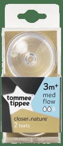 Tommee Tippee Náhradní savičky C2N střední průtok 3m+