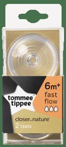 Tommee Tippee Náhradní savičky C2N rychlý průtok 6m+