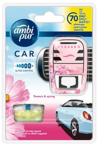 Ambi Pur Car Flowers & Spring osvěžovač startovací sada
