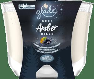Glade MAXI Deep Amber Hills vonná svíčka