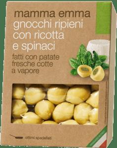 Mamma Emma Noky plněné ricottou a špenátem z čerstvých brambor