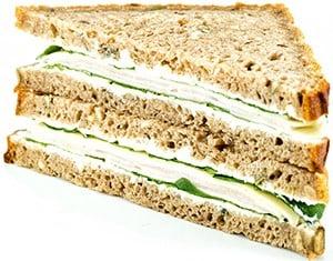 Sklizeno Žitný sendvič s krůtí šunkou