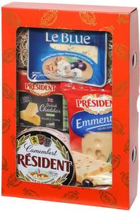 Président Dárkové balení čtyř sýrů