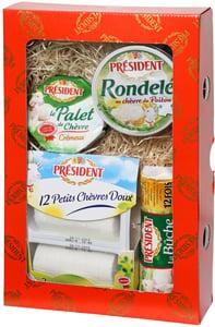 Président Dárkové balení čtyř kozích sýrů