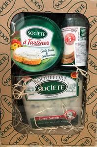 Roquefort Société Dárkové balení dvou sýrů