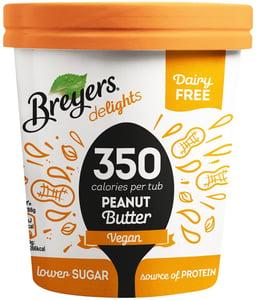 Breyers Delights Peanut Butter bezlaktózová proteinová zmrzlina v kelímku