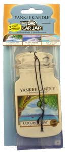 Yankee Candle Car Jar - Coconut Bay, Ocean Water, Sun&Sand vonné visačky do auta