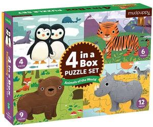 Mudpuppy Puzzle 4 v 1 - Animals