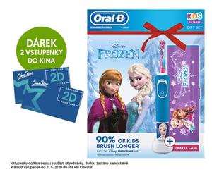 Oral-B Kids Ledové Království elektrický zubní kartáček + cestovní pouzdro