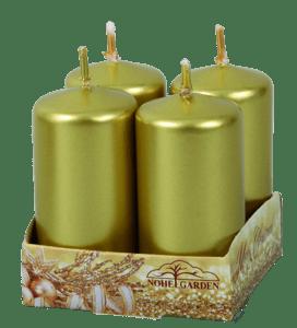Adventní svíčky, lesklé zlaté, balení