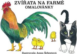 Veselá pastelka Omalovánky zvířata na farmě
