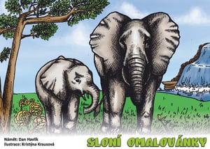 Veselá pastelka Omalovánky sloni