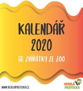 Veselá pastelka Kalendář 2020 se zvířátky