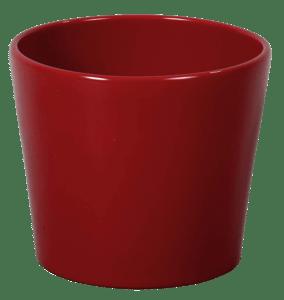 Obal na květník, keramický CALYPSO CHRISTMAS keramický červený