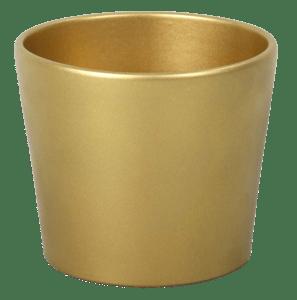 Obal na květník, keramický CALYPSO CHRISTMAS keramický zlatý