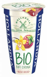 Hollandia BIO Bifi Jogurtový drink malina s vanilkou