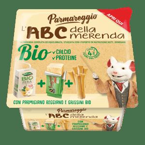 Parmareggio L'ABC snack BIO parmazán