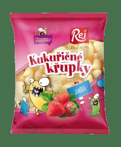 REJ Křupky kukuřičné jahodové