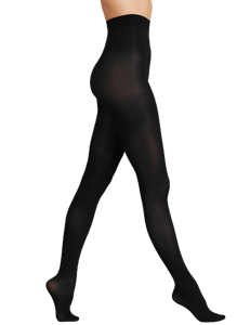 Marks & Spencer Sametově jemné punčochy 40DEN, černé, velikost XL (UK)