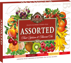 Basilur Fruit Infusions Assorted Ovocné a bylinné čaje dárkové balení