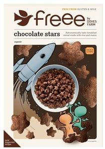 Doves Farm BIO Čokoládové hvězdičky bez lepku