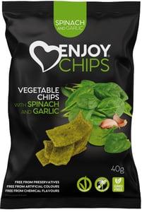 Enjoy Chips Zeleninové chipsy - špenát a česnek