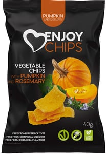 Enjoy Chips Zeleninové chipsy - dýně a rozmarýn