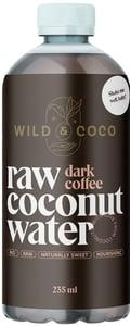 Wild & Coco BIO Raw kokosová voda s cold-brew kávou