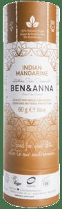 Ben & Anna BIO Tuhý deodorant - Indická mandarinka