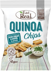 Eat Real Quinoa chips - smetana & pažitka