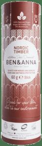Ben & Anna BIO Tuhý deodorant -  Severské dřevo