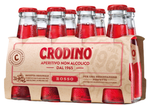 Crodino Rosso nealkoholický aperitiv PACK 8ks