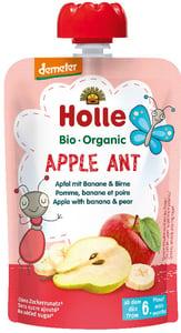 Holle BIO Pyré Apple Ant jablko-banán-hruška