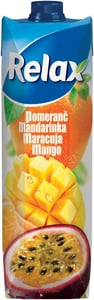 Relax Pomeranč, mandarinka, maracuja, mango
