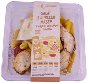 Rohlik.cz Salát z našich vaječných těstovin s pečeným kuřecím masem a cherry rajčaty
