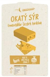Rohlik.cz Okatý sýr typu Ementál plátky