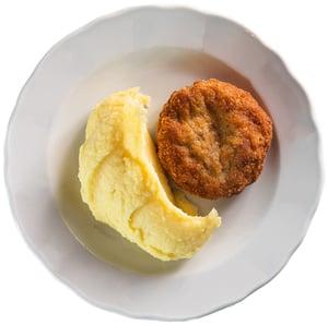 Holandský řízek se šťouchanými brambory z Kantýny