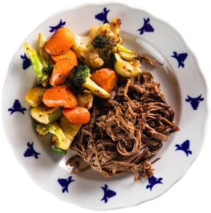 Rohlik.cz Shredded beef with Sweet and sour vegetables by Kantýna