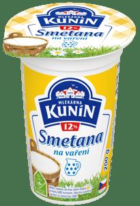 Mlékárna Kunín Smetana na vaření 12% 200g