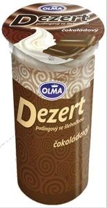 Olma Dezert Pudingový se šlehačkou čokoládový