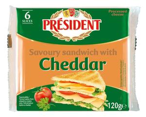 Président Cheddar sýr toast plátky