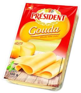 Président Sýr Gouda plátky