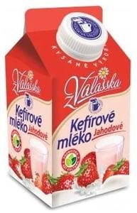 Mlékárna ValMez Kefírové mléko jahoda nízkotučné 0,8%