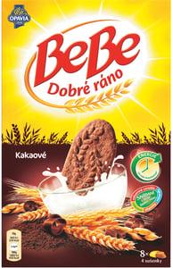 Opavia BeBe Dobré ráno kakaové cereální sušenky s čokoládovými pecičkami