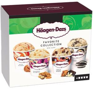 Häagen-Dazs Favorite Selection multipack 4x95ml