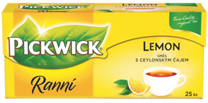 Pickwick Ranní čaj citron 25 ks