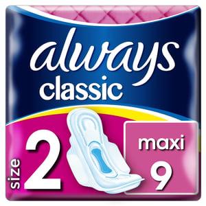 Always Classic Maxi dámské vložky 9ks