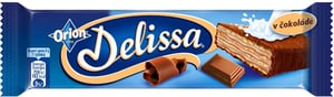 Orion Delissa oplatka s kakaovou náplní máčená v mléčné čokoládě