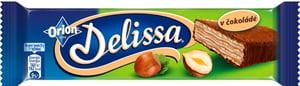 Orion Delissa oplatka s lískooříškovou náplní máčená v mléčné čokoládě