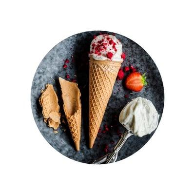 Tvarohová zmrzlina s vanilkou
